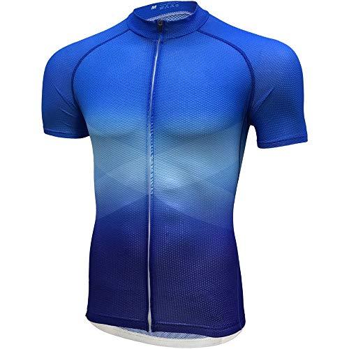 Vestimenta de ciclismo Verano de secado rápido de montar a caballo de manga corta transpirable for absorción de humedad de los hombres y mujeres de montar cortocircuito de la chaqueta azul Chaqueta de