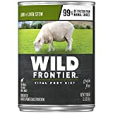 Wild Frontier Grass-Fed Prey Recipe Lamb Chunks in Gravy With Nutrient Rich Liver Canned Dog Food 12.5 Ounces (Pack of 12)