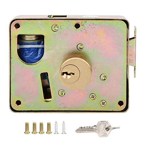DC 12V Electric Electronic Door Lock, Access Control Lock Door Entry, Anti‑Theft Security Home Door Access, Single Headed Home Security Lock with 3 Keys(Cabinet Drawer Leftward Unlock)