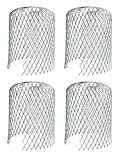 Pack of 4 Metal Gutter Guards - Keeps Gutter downpipes Clear of blockages from Leaves, Mos...