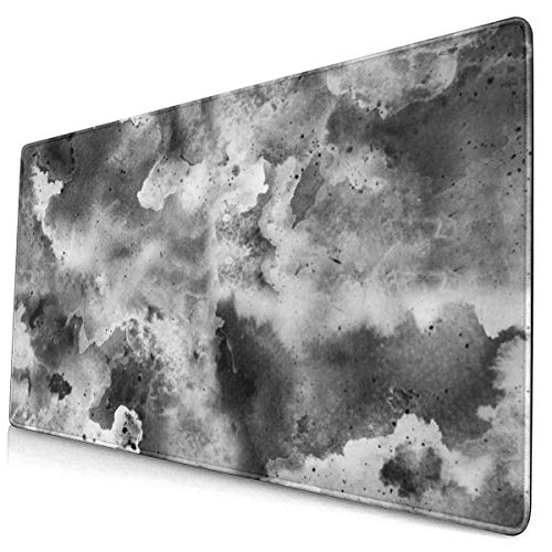 Ink Painted Abstract Galaxy Space Large Gaming Mouse Pad Extended Mouse Mat with Non Slip Rubber Base Water-Proof Keyboard Pad for Computer Laptop and Pc 15.8x29.5inch