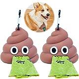 Bolsa De Basura De Caca Dispensador Dispensador de Bolsas de excremento para Perros Bolsas De Compost Para Perros Bolsa De Caca De Perro Bolsa Inodoro Exterior Para Cualquier Correa Bolsa Caca 2 Pcs