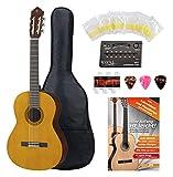 Yamaha CS40 Konzertgitarre 3/4 Set - 3/4 Größe - Decke: Fichte - Boden & Zargen: Meranti - Hals: Nato - Griffbrett & Steg: Palisander -...