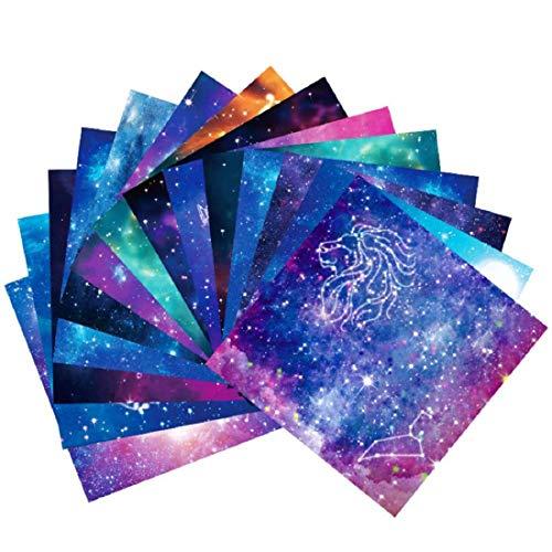 Origami Papier-150 Blätter DIY Handwerk Origami Papier 12 Verschiedenen Einzigartigem Design Origami-Papier 15x15 cm Doppelseitig Konstellation Nachthimmel Origami Papier