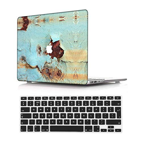 NEWCENT New MacBook Pro 15' Case,Plastic Ultra Slim Light Hard Case UK Keyboard Cover for Mac Pro 15 with Touch Bar 2016-2018 Release (Model:A1707/A1990),Rust 12