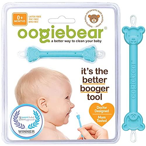 oogiebear - PATENTERAD SCOOP OCH LOOP; Safe Nasal Booger and Ear Cleaner - Baby Shower Registry. Easy Nose Cleaner Gadget för spädbarn och småbarn. Dubbel öronvax och avlägsnande av snot - Blå