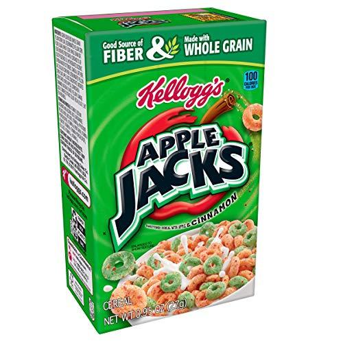 Kellogg's Apple Jacks, Breakfast Cereal, Original, Single Serve, 0.95 oz Box(Pack of 70)