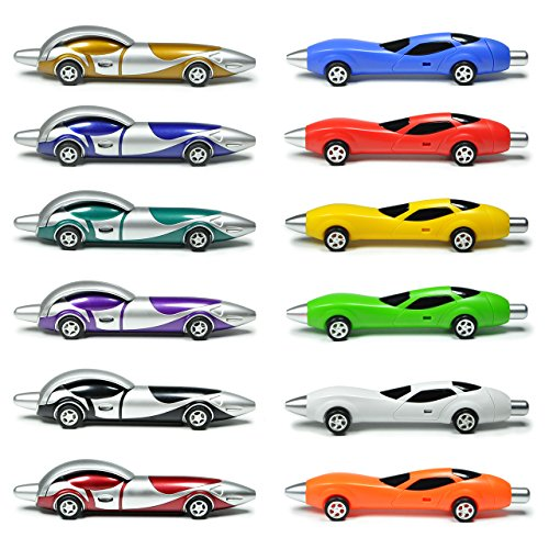 Littfun Cool Pens Fun Pens for kids Novelty Pens Cute Pens Interesting Racing Car Pens for Boys(set of 12)