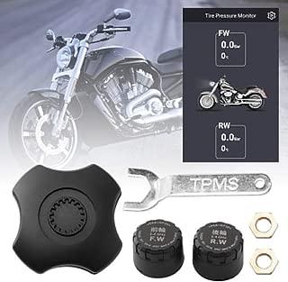 jinclonder Moto Bluetooth Sistema de monitoreo de presi/ón de neum/áticos con 2 sensores Pantalla LCD Alarma instant/ánea Funci/ón Impermeable para Motocicletas