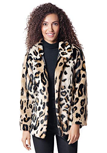 Donna Salyers' Fabulous-Furs Favorite Jacket (Graphic Leopard, XS)