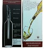 Xcellent Global Bâtonnet refroidisseur de vin - Refroidisseur de bouteille de vin en acier inoxydable équipé d'un bouchon, aérateur, et bec verseur en silicone HG092