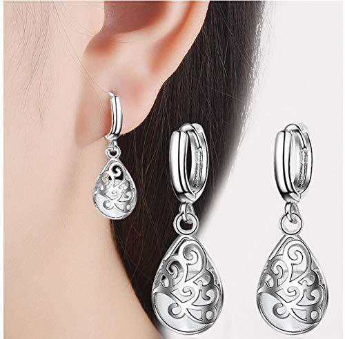 NOBRAND White Opal Stone Women Earring Hollow Design Earring