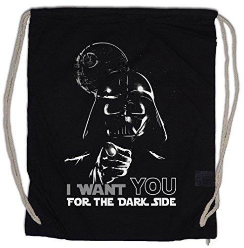 Urban Backwoods I Want You FOR The Dark Side Bolsa de Cuerdas con Cordón Gimnasio Vader Darth Macht Might Dunkle Seite Skywalker Imperium Empire