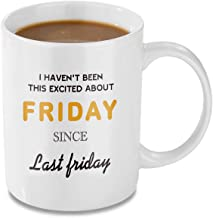 Coffee Mug, 11oz Funny Coffee Mug: Friday, Unique Ceramic Novelty Holiday Christmas Hanukkah Gift for Men and Women Who Love Tea Mugs Coffee Cups, Suitable for office and Home