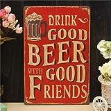 Yongse Bier Blech Zeichnungs Metall Gemälde Tin Shop Pub Wand Tavern Poster Sign