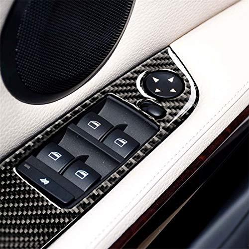 PengSF PSF 4 stuks koolstofvezel auto stuur zelfklevend zonder vouwen, voor BMW E90 / 320i / 325i, diameter: 35,8 cm