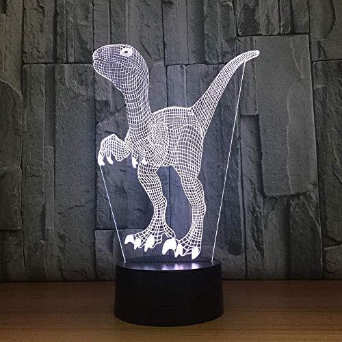 Lámpara de mesa de dinosaurio visual con luz de nocheLED conluz fantasma3DUSB 7cambia la atmósfera del mejor regalo para niños