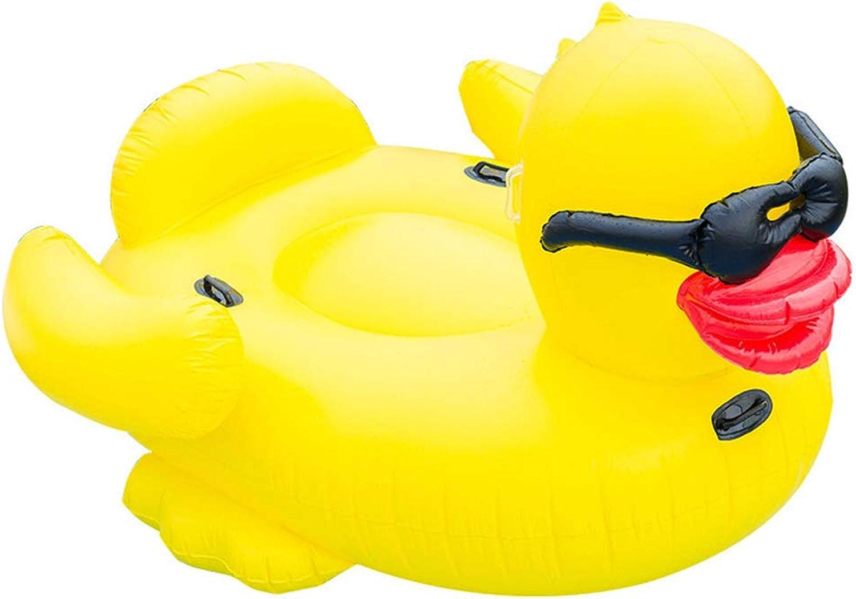NAN Schwimmende Reihe Schwimmende Reihe Der yellowen Ente Der Aufblasbaren Sonnenbrille Pool Luftmatratze FloatingRing Riesen Aufblasbarer Luftmatratzen Für Pool Strand Party