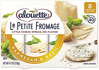 ALOUETTE Le Petite Fromage Parmesan and Basil Spreadable Cheese, 4.7 Ounce (Pack of 8)