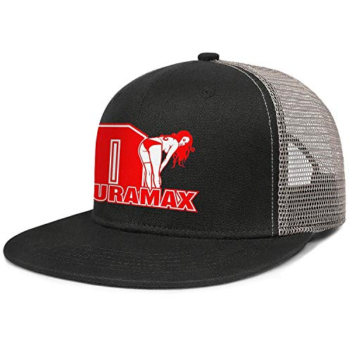 Cotton Mesh Back Black Trucker Cap Duramax-V8-engine-logo-Fo Men Women's Relaxed Duck Tongue Hats