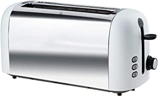 LUNAFJ Stainless Steel Toaster Uniformly Baked 4 Slices Toaster Has Widened Lengthened Bread Slot Bread Machine Has Apause Heating Thawing Function Removable Crumb Tray