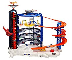 Coffret Hot Wheels City Super Garage Ultime