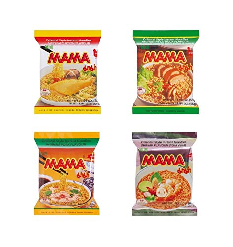 Pamai Pai® Bigpack: 40 Mama Nudelsuppen Ente - Shrimp - Huhn - Schwein 2300g Suppe