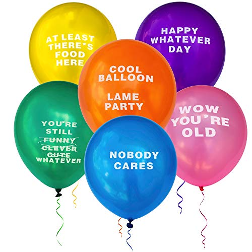 Best Deals! Kipi Toys Funny Party Abusive Balloons 24 Pcs Jumbo Pack Birthday Humor Fun Prank Gag Balloon Joke Special Decoration Gift Present for Old Adults College