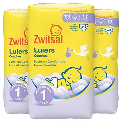 Zwitsal Luiers New Born - Maat 1-3 x 44 stuks Voordeelverpakking