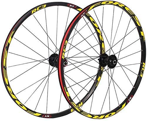 L.BAN Juego de Ruedas MTB Mountain Bike 26, Ruedas de Ciclismo MTB Rodamientos sellados con Freno de Disco 8 9 10 11 Velocidad, A-27.5 Pulgadas