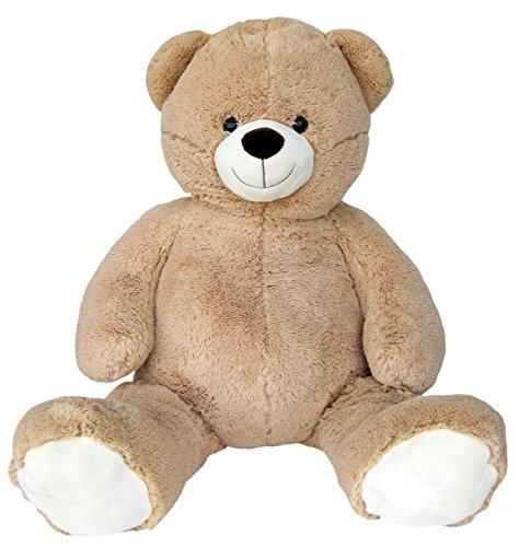 Wagner 9033 - Riesen XXL Teddybär 140 cm groß in hell-braun - Plüschbär Kuschelbär Teddy Bär in beige 1,40 m
