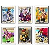 Einteiliger Piratencharakter, Anime-Kunstdruck, Reiju Sabo Zoro Nami Ace, Stoff, Wandkunst für Dekoration, 20,3 x 25,4 cm, ohne Rahmen