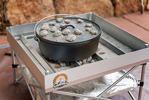 Dutch Oven Fire Table Bundle | Pop-Up Fire Pit + Frontier Grates | Portable Dutch Oven Table & Fire...