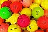 LbcGolf Bolas de Golf Mixtas Divertidas de Color - 25 Piezas - AAAA - AAA - Color - Bolas de Lago - Pelotas de Golf usadas - graciosas - Colorido - Mujeres Set de Regalo de Golf