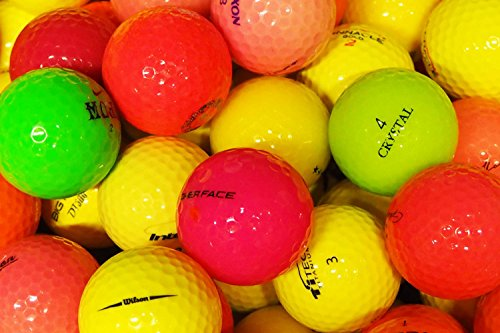 lbc-sports LbcGolf colorato Divertente Misto Palle da Golf - 25 Pezzi - AAAA - AAA - colorato - Palle Lago - Palline da Golf usate - Divertenti - Colorate - Signore - Alta qualità