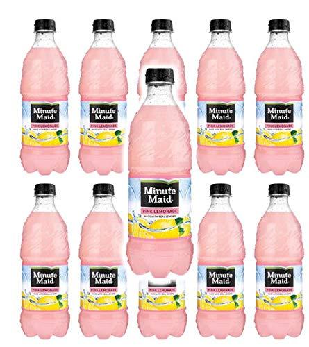 Minute Maid Pink Lemonade 20oz bottles pack of 10 (total of 200 FL OZ)