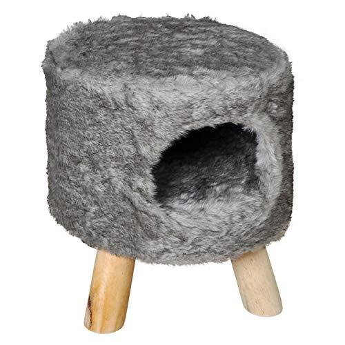 VOSS.PET Katzenkratzbaum Katzenhocker Coco, grau Katzenhöhle Kratzbaum super kuschelig
