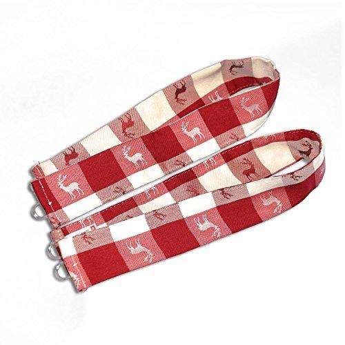 SeGaTeX home fashion Raffhalter Karo 636610 2er-Set passend zur Dekoschalgarnitur Karo in Rot