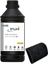 IFUN ABS Like Resin 3D 405nm LCD DLP Printer High Impact High Tough Strength HiTemp Rapid SLA UV 3D Printing Liquid Photopolymer Black 500ml