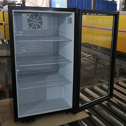 Pantalla refrigerada - congelador de mantenimiento 98L vertical hogar pequeño bar de hielo enfriador de vino puerta de vidrio mini refrigerador - gabinete de mantenimiento