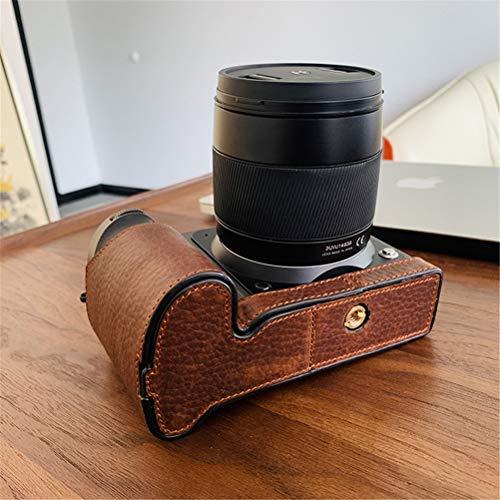 XJXJ Caso de Cuero de la cámara Bolso de la cámara/Base de la cámara/Cuero Caso Base Hecha a Mano de la manija Cubierta de la Base, Apto para Hasselblad x1d II 50C / Hasselblad x1d