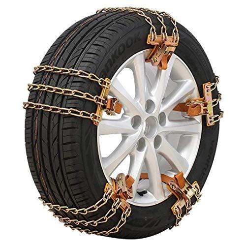 Chunjiao Cadena de nieve Neumático de coche Neumático de seguridad de invierno Neumático de seguridad de nieve Ajustable antideslizante Seguridad Doble Hebilla Cadena de nieve Duradera Cadena de nieve