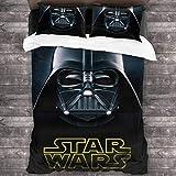 POMJK Star Wars - Juego de ropa de cama de Star Wars, funda nórdica de 3 piezas, 1 funda nórdica y 2 fundas de almohada (Star wars1, 200 x 200 cm + 50 x 75 cm)