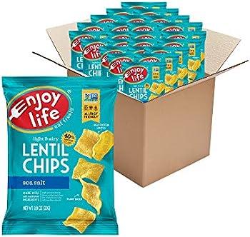 24-Pack 0.8oz Enjoy Life Sea Salt Lentil Chips