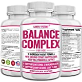 Balance Complex for Women, Candida Cleanse & Vaginal Health Dietary Supplement, Natural Formula with Oregano, Caprylic Acid, Aloe, Probiotics & Enzymes for Gut & Immune Health Support, 60 Capsules