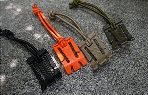 5 pièces Outil d'extérieur Sac à dos MOLLE Mousqueton Boucle Clip Enrouleur pour fixer en nylon lâche 2,5 cm Sangles Web
