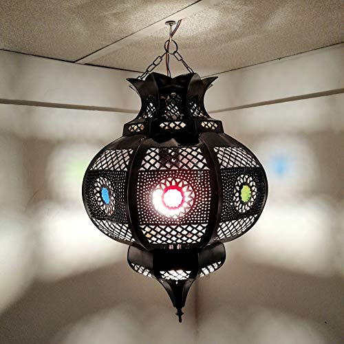 Lampadario Etnico Marocchino Lampada Lanterna Arabo Orientale 0603191014