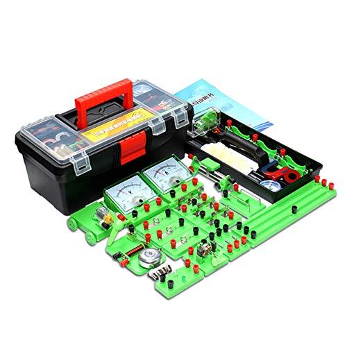 TTSUAI Conjunto Experimentos Electricidad Y Magnetismo Kit Básico Aprendizaje Circuito Básico para Niños Estudiantes Electromagnetismo