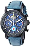 AVI-8 Men's Hawker Hurricane Stainless Steel Japanese-Quartz Leather Strap, Blue, 22 Casual Watch (Model: AV-4062-03)