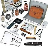 BARBER TOOLS  Kit/Set/Estuche de arreglo y cuidado de la barba y afeitarse | Cosmético Made in French